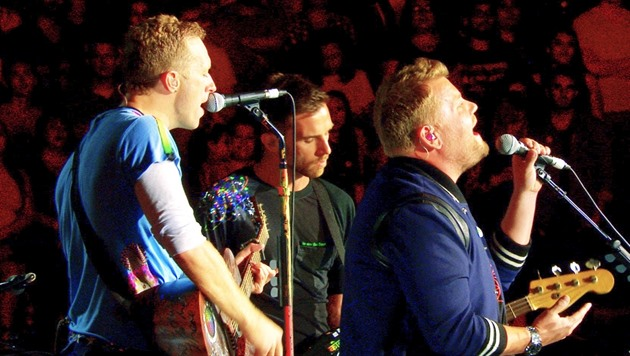 James Corden a Coldplay