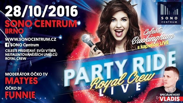 Celeste Buckingham na PARTY RIDE LIVE