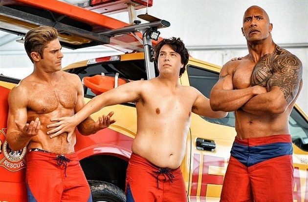 Zac Efron, Jon Bass, Dwayne Johnson