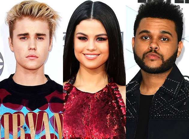 JB / Selena Gomez / The Weeknd