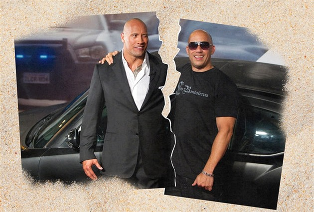 "Dwayne ""The Rock"" Johnson a Vin Diesel"