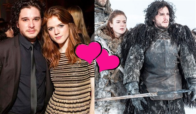 Kit Harington a Rose Leslie alias Jon Snow a Ygritte