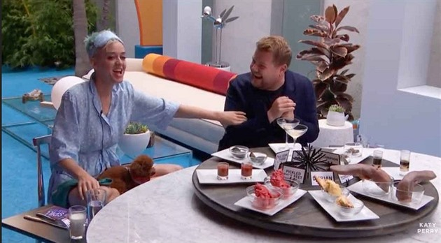 Katy Perry a James Corden