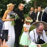 Obrázek Petr Novotný vdával dceru: Statečně ji přes chatrné zdraví dovedl k oltáři