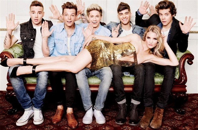 One Direction a Rosie Huntington-Whiteley