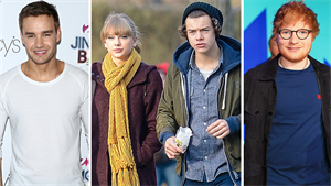 Liam Payne, Taylor Swift, Harry Styles a Ed Sheeran,