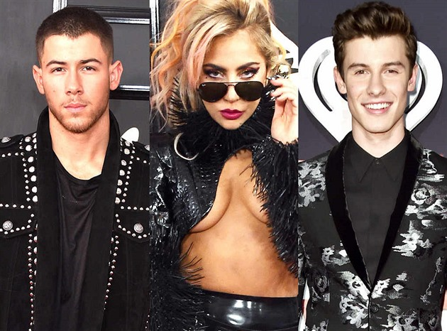 Nick Jonas, Lady Gaga a Shawn Mendes