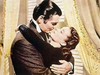 Clark Gable a Vivien Leighová ve filmu Jih proti severu (Gone With The Wind) z