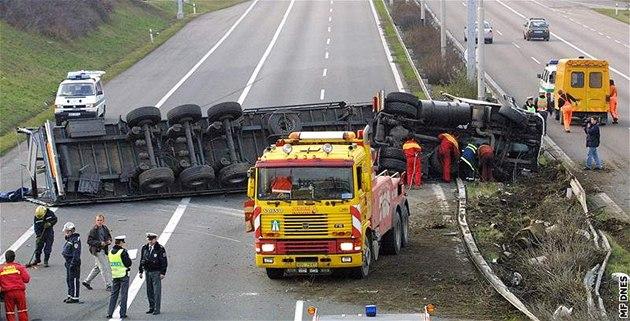 Dopravní nehoda dnes na d1