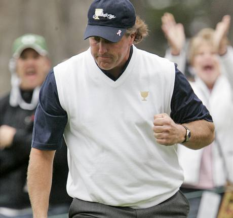 Presidents Cup 2009 - Phil Mickelson, tým USA.
