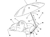 Pillow with retractable umbrella  - 6711769
