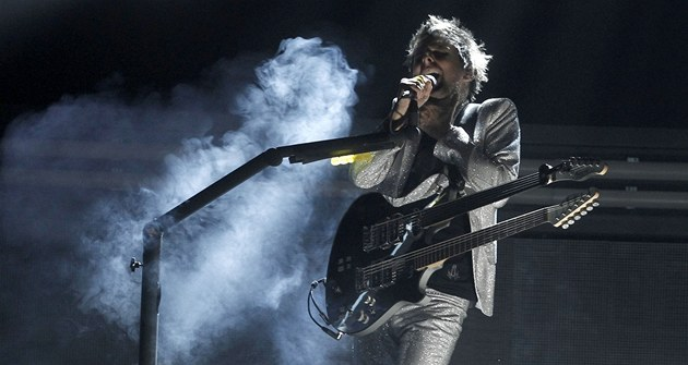 Grammy za rok 2010 - Matthew Bellamy a Muse (Los Angeles, 13. února 2011)