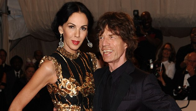 Mick Jagger and L'Wren Scottová