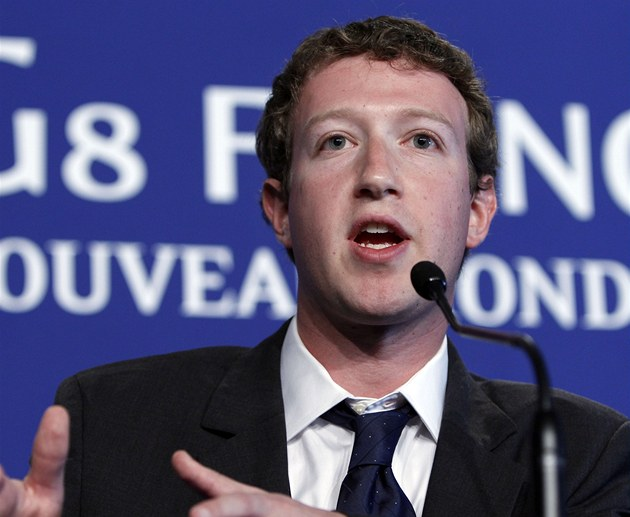 Zakladatel Facebooku Mark Zuckerberg na summitu G8