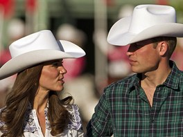 Vévodkyně z Cambridge Catherine a princ William v Kanadě (Calgary 7. července...
