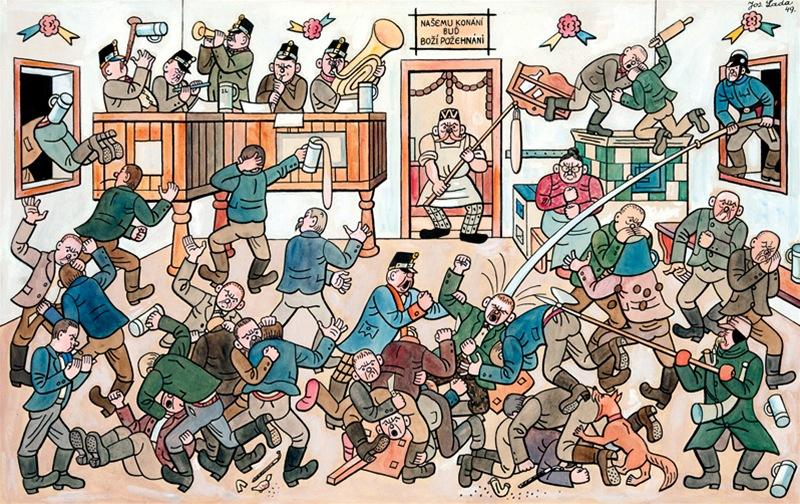 Výsledek obrázku pro lada vánoce hrusice rvačka