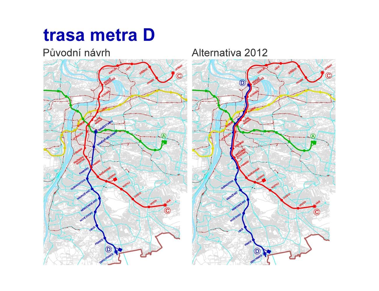 Nová trasa metra d