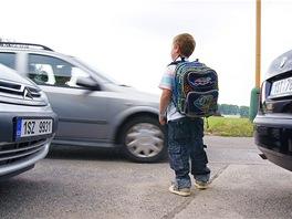 Nebezpečné přecházení školáků
