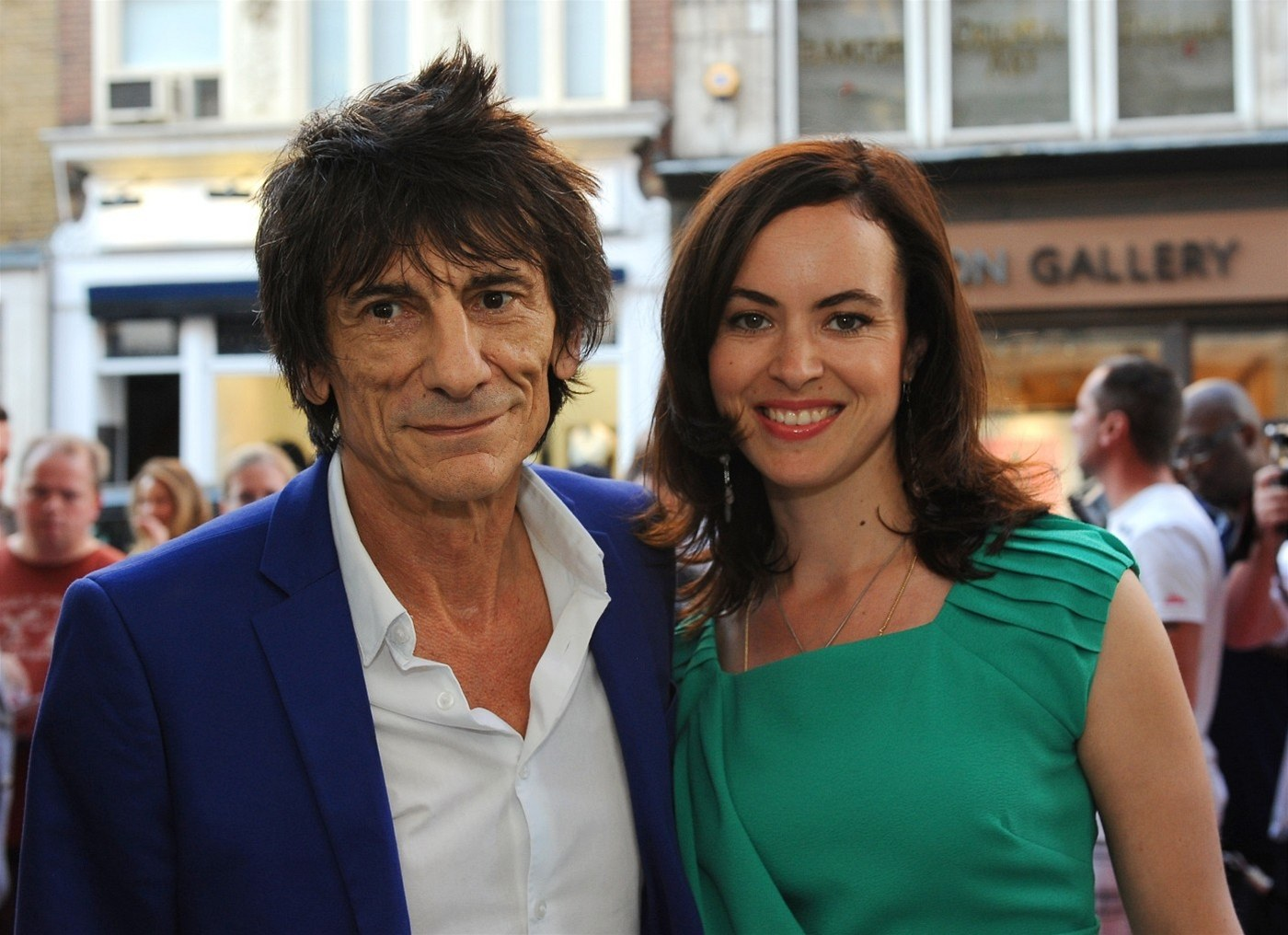 Ronnie Wood a Sally Humphreysová