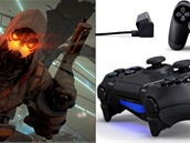Kolá� PlayStation 4. Vlevo p�ipravovaná hra Killzone: Shadow Fall, vpravo