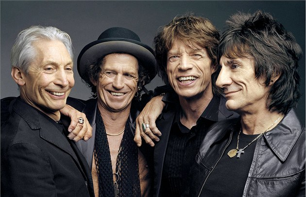 Rolling Stones (zleva): Charlie Watts, Keith Richards, Mick Jagger a Ron Wood