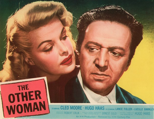 Hugo Haas s herečkou Cleo Mooreovou na plakátu filmu The Other Woman.