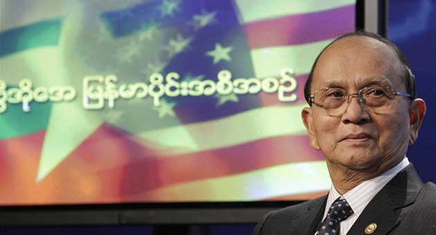 Barmský prezident Thein Sein ve Washingtonu (19. kv�tna 2013)