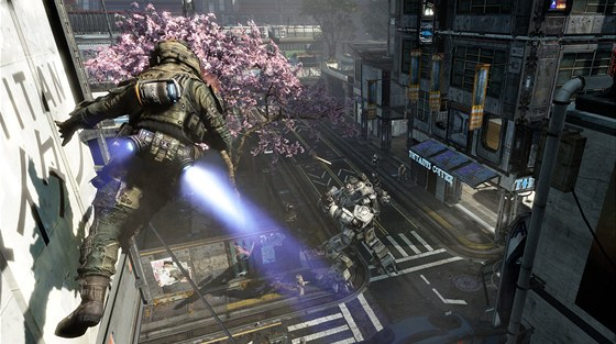 Angel City v prvn�m d�lu Titanfall