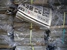 "Copies of Fukushima Minpo newspapers with headlines ""M(magnitude) 8.8, largest..."