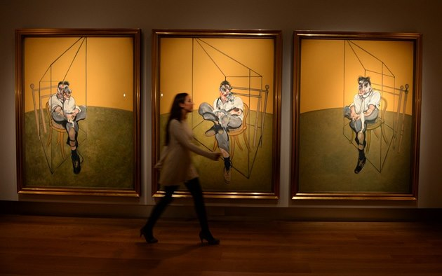 Triptych malí�e Francise Bacona Three Studies of Lucian Freud (T�i studie...