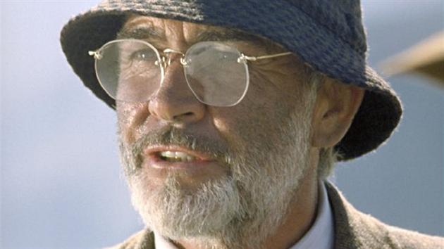Sean Connery ve filmu Indiana Jones a poslední křížová vıprava (1989).