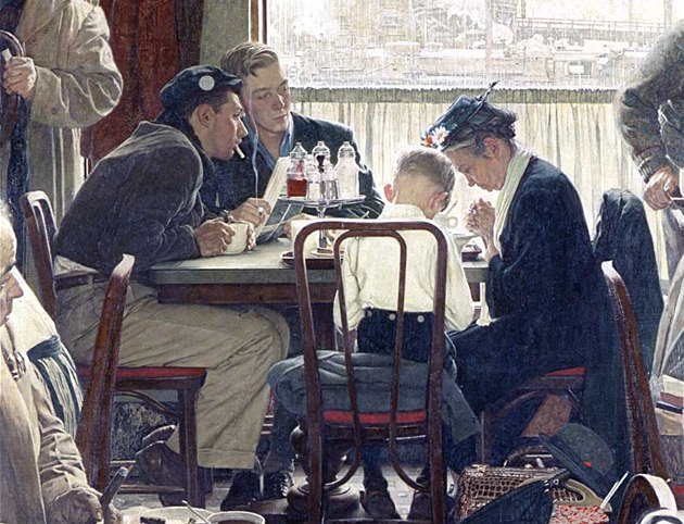 Norman Rockwell: Saying Grace (1951)
