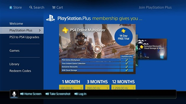 Placená slu�ba PlayStation Plus