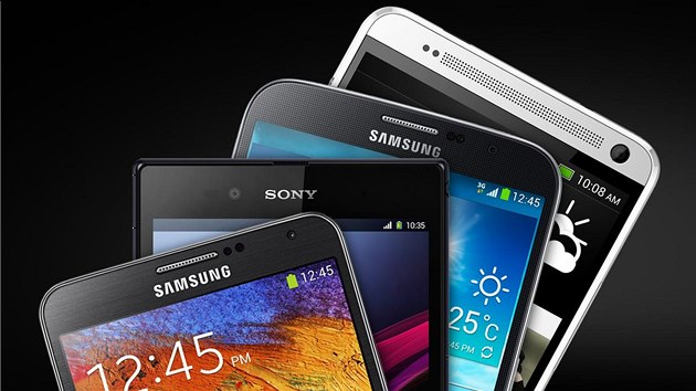 Samsung Galaxy Note III, Xperia Z Ultra, Galaxy Mega a HTC One Max