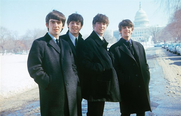 The Beatles pózují ve Washingtonu.