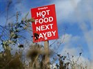 A sign is seen along the A27 near Lewes, southern England August 15, 2013.