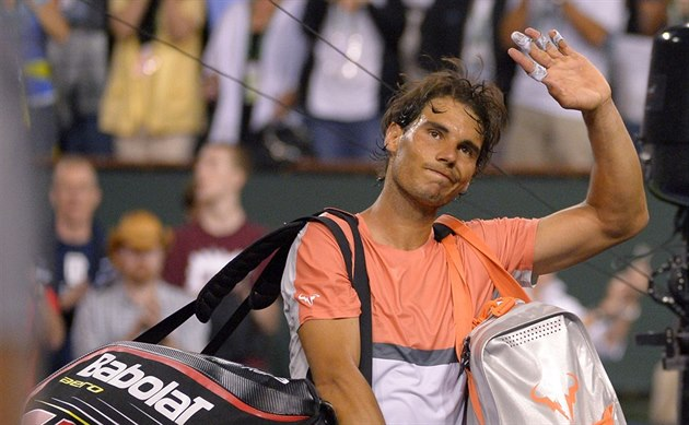 Rafael Nadal se loučí s turnajem v Indian Wells.