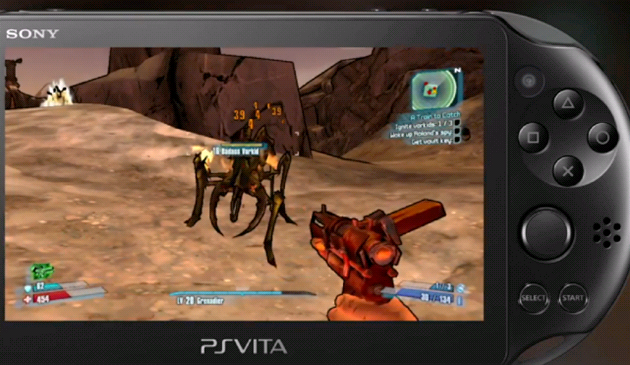 St�íle�ka Borderlands 2 pro PlayStation Vita.