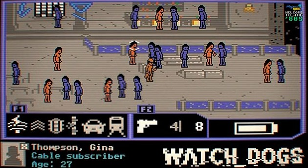 Watch Dogs jako hra na Commodore 64