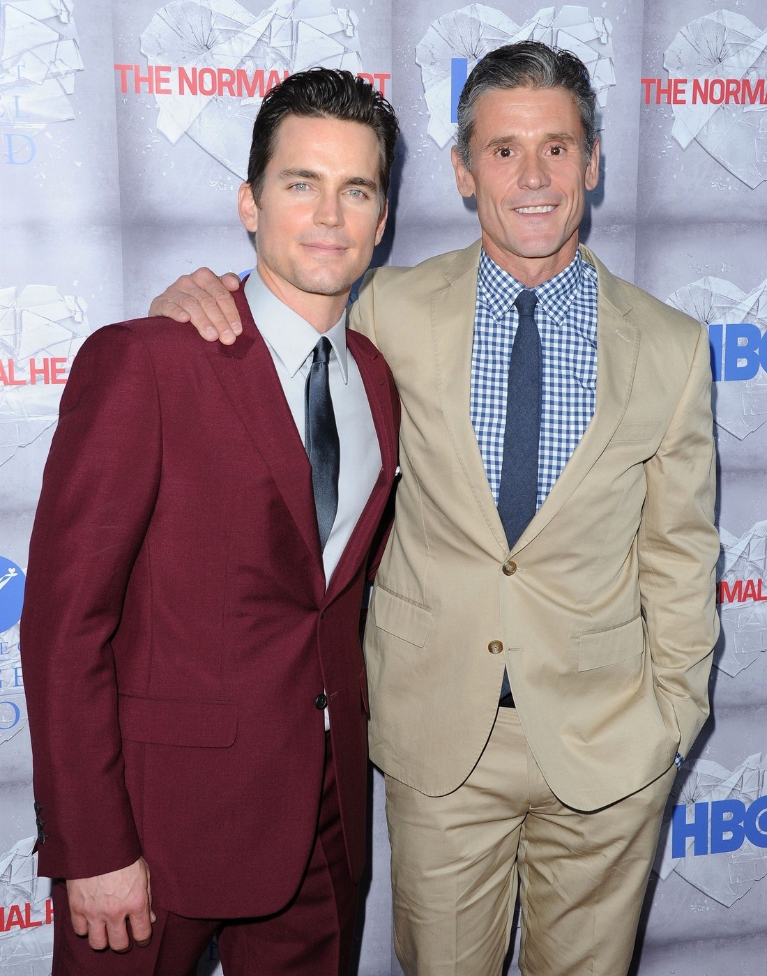 Matt Bomer a Simon Halls na premiéře filmu The Normal Heart (New York, 12....