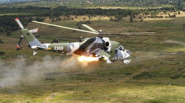 Bitevní vrtulník Mi-24 českého letectva