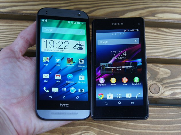 HTC One mini 2 a Sony Xperia Z1 Compact
