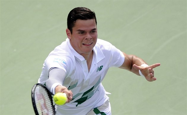 Milos Raonic na turnaji ve Washingtonu