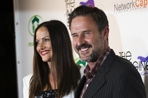 David Arquette a Christina McLarty (Los Angeles, 6. srpna 2014)