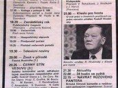 TV Program - 17. listopadu 1989