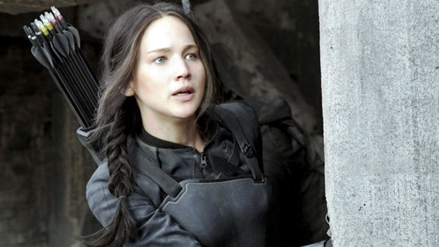 Jennifer Lawrencová ve filmu Hunger Games: Síla vzdoru 1. část (2014)