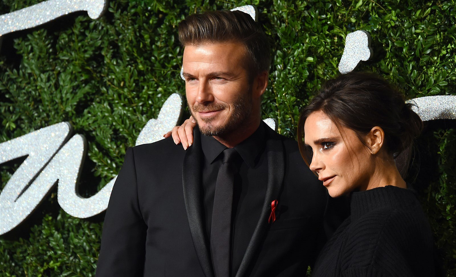 Victoria Beckhamová a David Beckham na Britain Fashion Awards 2014