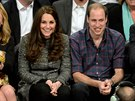 Kate a princ William na zápase NBA: Cleveland Cavaliers a Brooklyn Nets (New...