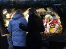 People shop at the Christmas market in Riga December 6, 2014.
