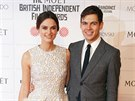 Keira Knightley a James Righton na Britain Independent Film Awards (Londýn, 7. prosince 2014)